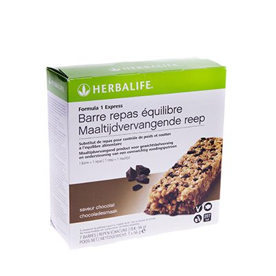 Herbalife Formula1 express maaltijdvervangende reep 7 repen chocoladesmaak