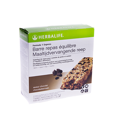 Herbalife Formula1 express maaltijdvervangende reep 7 repen chocoladesmaak
