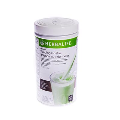 Herbalife Formule 1 voedingsshake 550 gram crunchy chocolade munt smaak